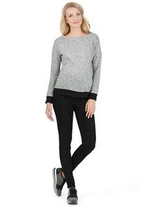 """Image de Pantalon """"Herman"""" pour les femmes enceintes eco-daim et tissu jersey couleur: noir"""