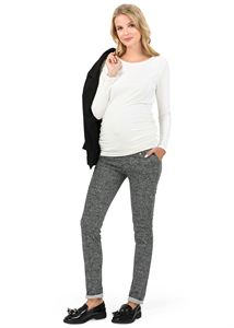 "Picture of ""Clerk""  Maternity pants tight jacquard color: dark gray"