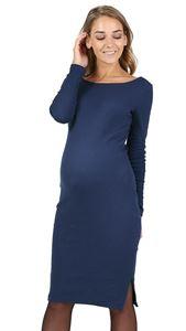 """Изображение Платье """"Санта"""" для беременных; цвет: темно-синий"""