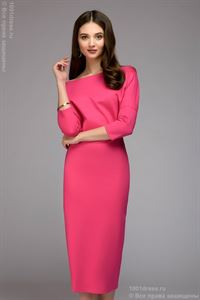Picture of Dress DM00898FA MIDI length with free top; color: fuchsia