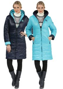 Picture of Winter Jacket Laura Bruno double-sided blue-blue