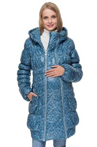 """Изображение Зимняя куртка 3в1 """"Гаага"""" синяя с узором"""