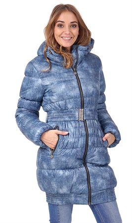 """Изображение Зимняя куртка 2в1 """"Юта"""" для беременных,  обычная; цвет: Джинс"""