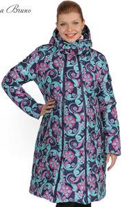 Изображение Зимняя куртка 3в1  Laura Bruno №1 сине-розовая для беременных и слингоношения
