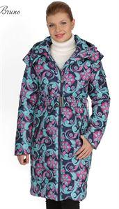 Изображение Зимняя куртка Laura Bruno №1 сине-розовая