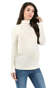 """Изображение Водолазка """"Универсал"""" молочная для беременных и кормящих"""
