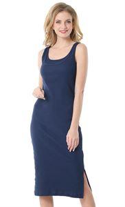"""Изображение Платье """"Кашкорсе"""" для беременных и кормящих т.синий"""