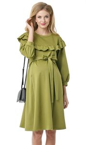 """Bild von """"Gall""""  Umstandskleid und stillende; Farbe:  hellgrün"""