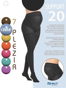 Изображение Колготки для беременных 20 DEN со специальной вставкой Support 7 PLEZIR; цвет: черный