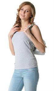"""Bild von MH01 """"Klassische"""" Stillunterhemd; Farbe: Grau Melange"""