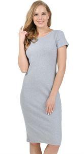"""Изображение Платье """"Одри"""" для беременных серый меланж"""