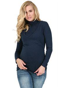"""Изображение Водолазка """"Универсал"""" т.синяя для беременных и кормящих"""