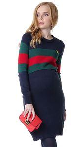 """Obrazek Sukienka """"Eilen"""" dla kobiet w ciąży i karmiących; kolor: niebieski / zielony"""