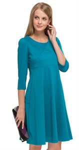 "Picture of ""Bratislava"" in emerald Maternity and nursing dress"