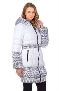 "Picture of Winter Jacket ""Utah""  color: patterns on white"