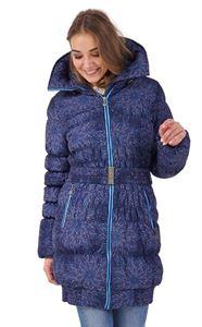 """Obrázek Zimní bunda 3в1 """"Island"""" barva: květiny na modré"""