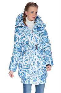 """Obrázek Zimní bunda 3в1 """"Island"""" barva: kostky ledu na bílém"""