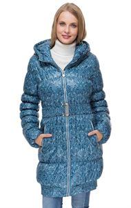 """Obrázek Zimní bunda 3в1 """"Haag"""" barva: modrá se vzorem"""