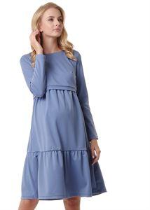 """Изображение Платье """"Фиалка"""" для беременных и кормящих; цвет: денимный"""