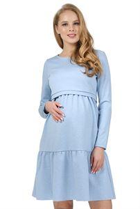 """Изображение Платье """"Фиалка"""" для беременных и кормящих; цвет: денимный меланж"""