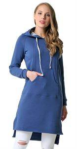 Picture of Nellie maternity and nursing Tunic; color: Indigo