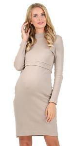 "Picture of ""Madeleine""  nursing dress; colour:  beige"