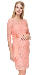 """Picture of """"Marjorie"""" Maternity peachy  dress"""