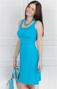 Изображение Платье ПВ03 голубое  для беременных и кормящих