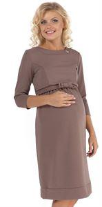 Изображение Платье ПП09 бежевое для беременных и кормящих