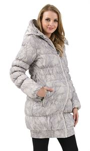 """Picture of Winter jacket 3in1 """"Iceland"""" color: beige patterns"""