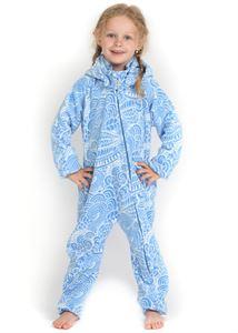 """Image de Salopettes pour enfants en polaire """"Classic""""; couleur: bleu avec motif"""