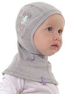 """Bild von Kinderhut """"Ich liebe Mama""""; Farbe: grau melange / Druck"""