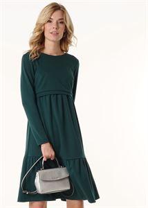"""Изображение Платье """"Фиалка"""" для беременных и кормящих; цвет: бутылочный"""