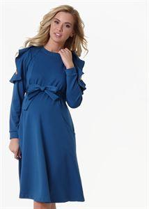 """Obrazek Sukienka """"Rimma"""" dla kobiet w ciąży i karmiących; kolor: niebieski"""