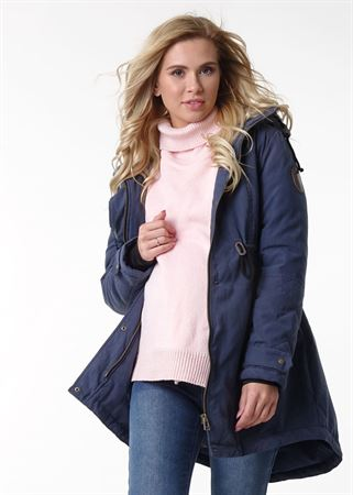 """Picture of Jacket demis. 2in1 """"Kelly"""" bordeaux for pregnant women"""