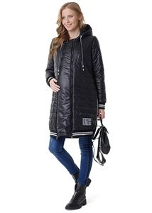 """Picture of Demi-season jacket 3in1 """"Norwich"""": normal, for pregnant women, for baby wear; black colour"""