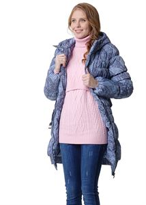 """Picture of Winter jacket 3in1 """"Hague"""" color: light gray with patterns"""