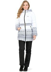 """Obrázek Sada: zimní bunda a kalhoty 2 v 1 """"Nebraska"""" pro těhotné ženy, obvyklé; barva: vzory na bílé barvě"""