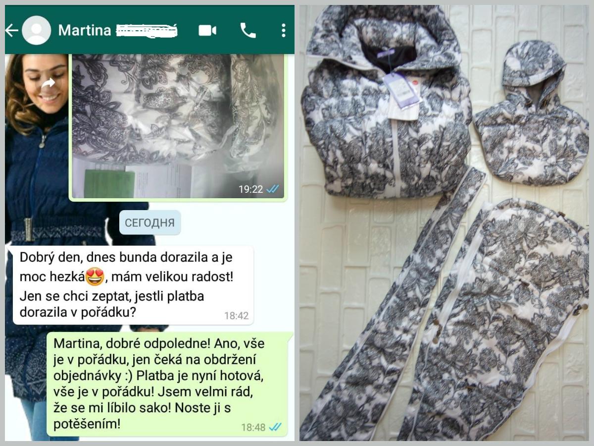 """Martina (Česká republika, Чехия): """"Dobrý den, dnes bunda dorazila a je moc hezká😍, mám velikou radost!"""""""