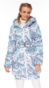 """Изображение Зимняя куртка 2в1 """"Юта"""" для беременных,  обычная; цвет: Пэйсли на белом"""