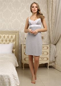 "Picture of Nightgown ""Melissa"" for nursing; color: melange"