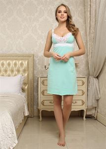 "Picture of Nightgown ""Melissa"" for nursing; color: menthol"