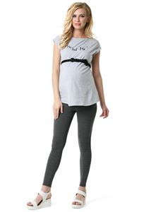 "Picture of Maternity Leggings ""LD01"" ; color: dark gray melange"
