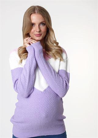 """Изображение Джемпер """"Ивона"""" для беременных; цвет: лиловый"""