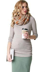 """Изображение Лонгслив """"Эльмира"""" для беременных и кормящих; цвет: бежевый меланж"""