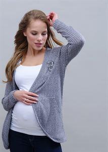 """Bild von Strickjacke """"Omega"""" für Schwangere und Stillende; Farbe: grau"""