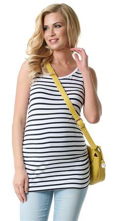 """Bild von Umstandsshirt """"Virginia"""" für schwangere Frauen weiß blau"""