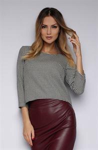 Изображение Блуза FH30163 цвет: гусиная лапка