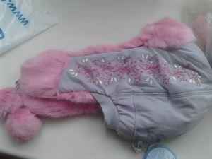 """Image de Детская Шапка-ушанка """"Метелица"""" 5-9 лет; цвет:  серый (розовая опушка)"""