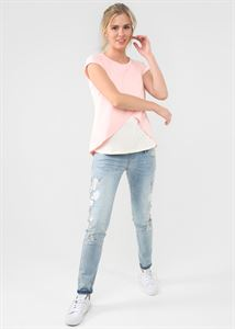 """Obrázek Tričko """"Helga"""" pro těhotné a kojící; barva: prášková"""
